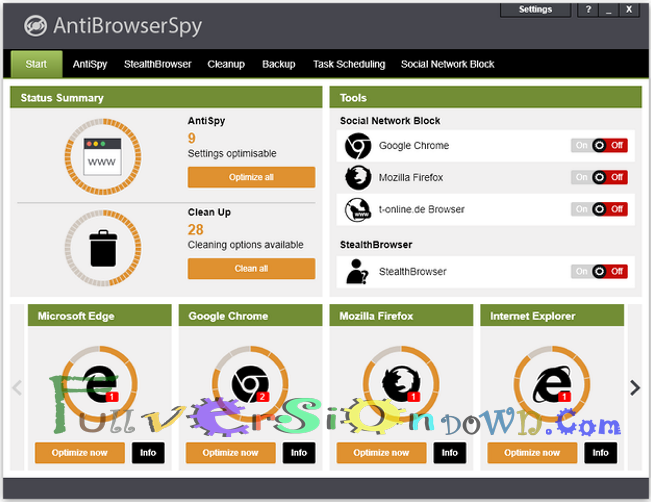 AntiBrowserSpy Pro 2017 Full Version