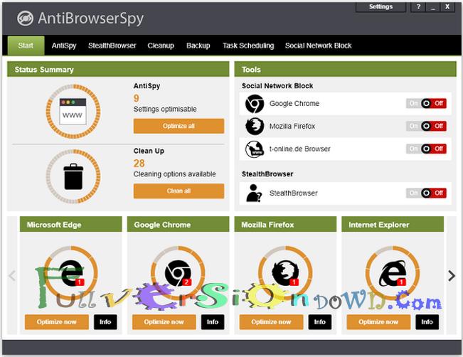 AntiBrowserSpy Pro 2017 Full Version