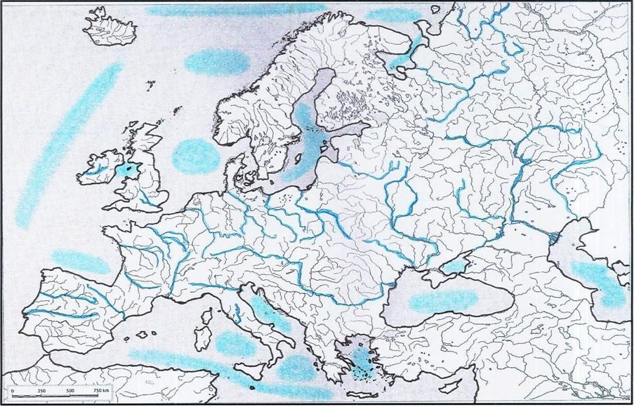 Mapa Fisic D Europa Rius.Mapa Rius Europa Mapa