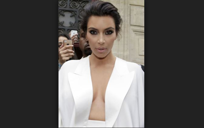 Kim Kardashian Up In The Cleavage Department