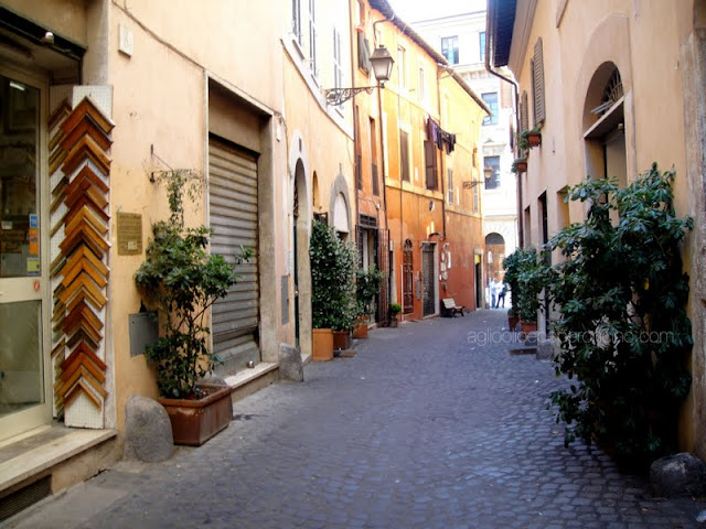 via della Reginella in the Jewish Quarter of Rome