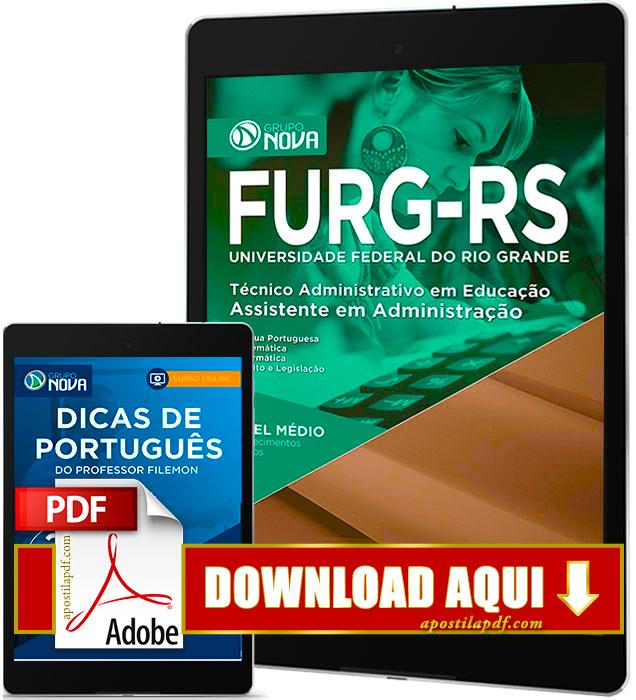 Apostila FURG RS 2016 PDF Download Assistente em Administração