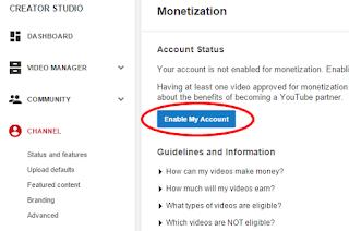 Cara Pasang Iklan Adsense  YouTube