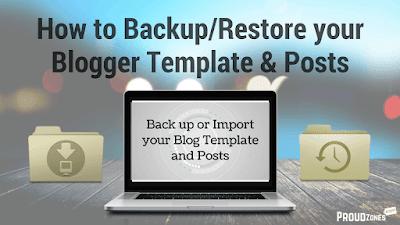 backup restore blogger template posts