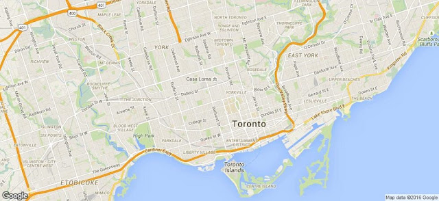 Mapa de Toronto
