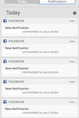 Notification Center on my Mac displays same message multiple times