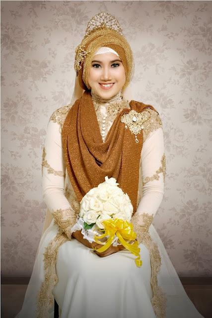 gaun pengantin muslimah modern terbaru