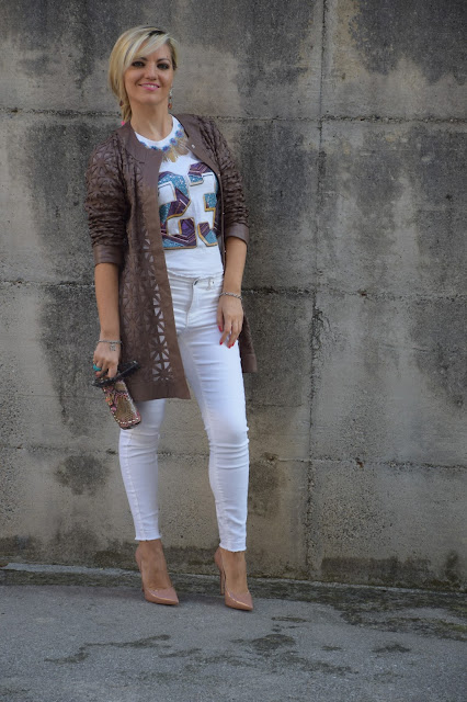 outfit jeans skinny bianchi senza orlo abbinamenti jeans skinny bianchi senza orlo jeans bianchi in inverno outfit settembre 2016 outfit autunnali mariafelicia magno fashion blogger colorblock by felym web influencer italiani blogger italiane di moda fashion blogger italiane