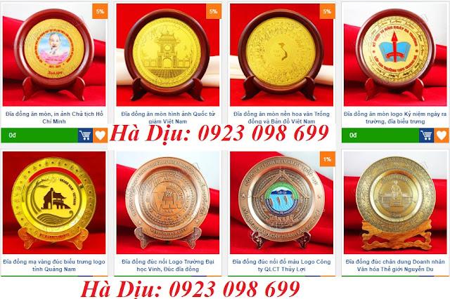 Đĩa đồng truyền thống, kỷ niệm chương đồng, bộ số đồng, đúc đĩa đồng kim loại, đĩa viển gỗ hội nghị