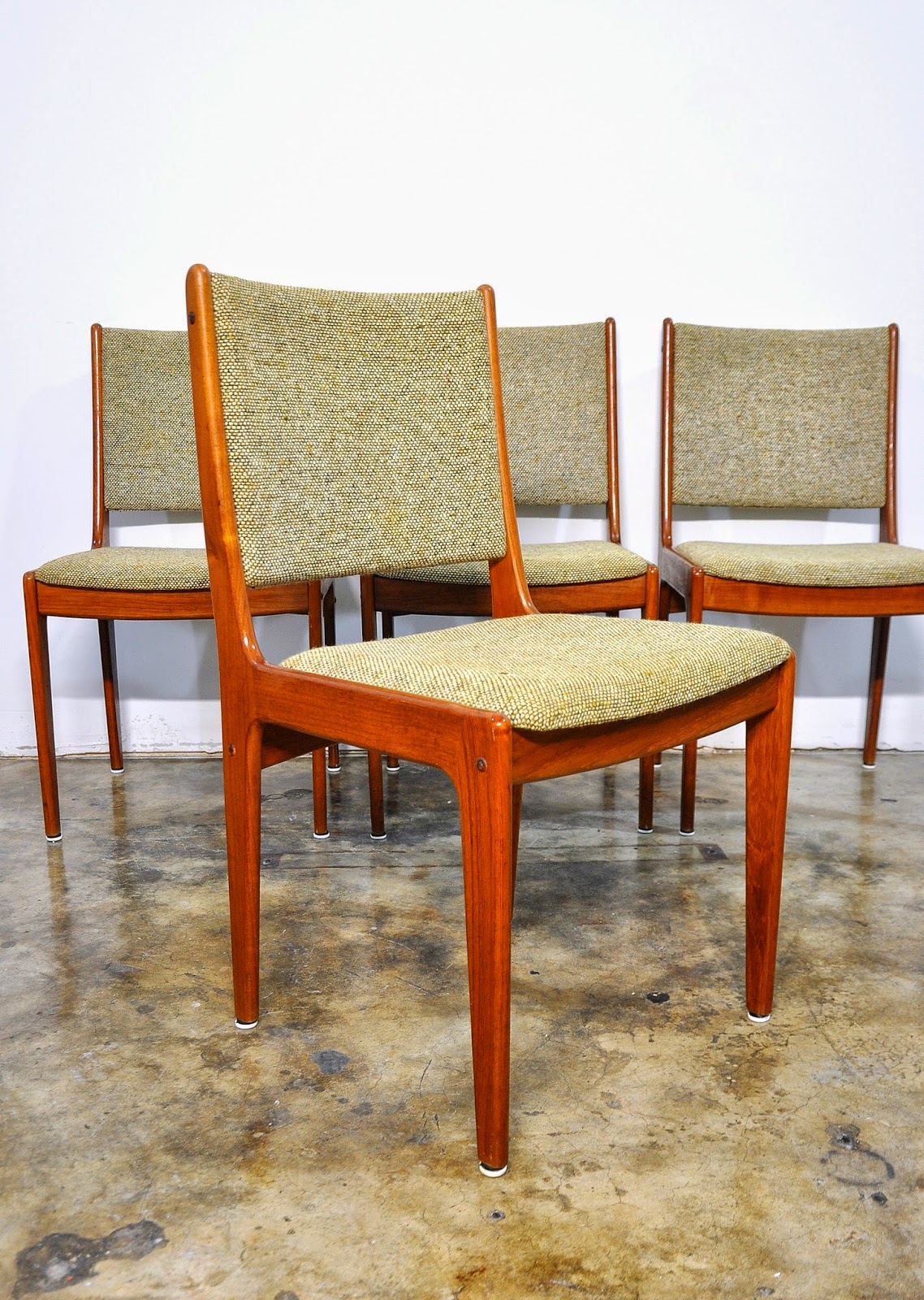 Dining Table Set 6 Chairs Oversized Chair With Ottoman Select Modern: Of 4 Danish Modern Teak