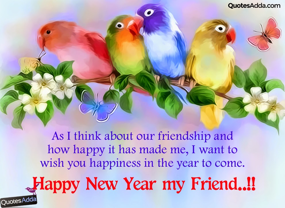 English Cute Happy New Year wishes for Friends ...