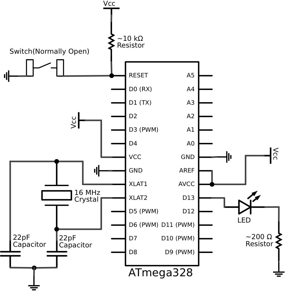 the breadboard circuit is as shown below