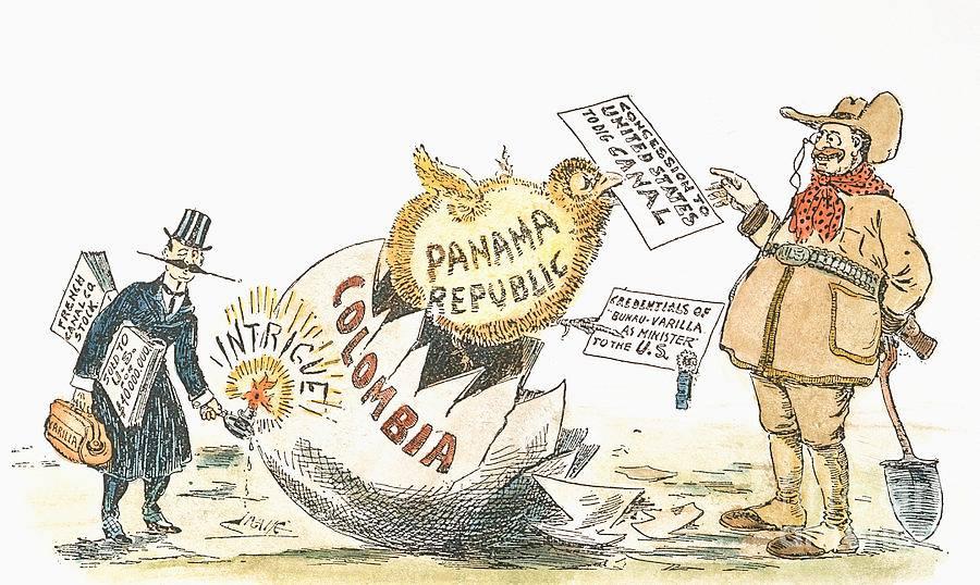 """(Biếm họa về sự """"độc lập"""" của Panama)"""