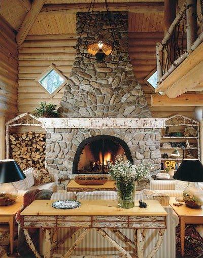 Hunting Lodge Interiors Wood Walls