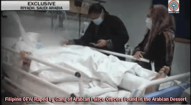 Filipino OFW Raped by Gang of Arabian Police Officers Found in the Arabian Dessert