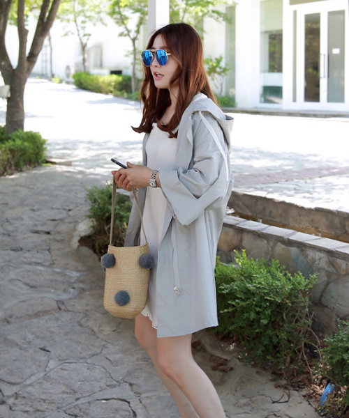 Hooded Mid-Thigh Coat