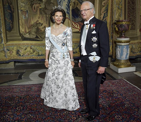 Crown Princess Victoria wore H&M Conscious Exclusive Dress. Princess Sofia wore a new custom gown from Ida Sjostedt. Queen Silvia wore Yukki dress