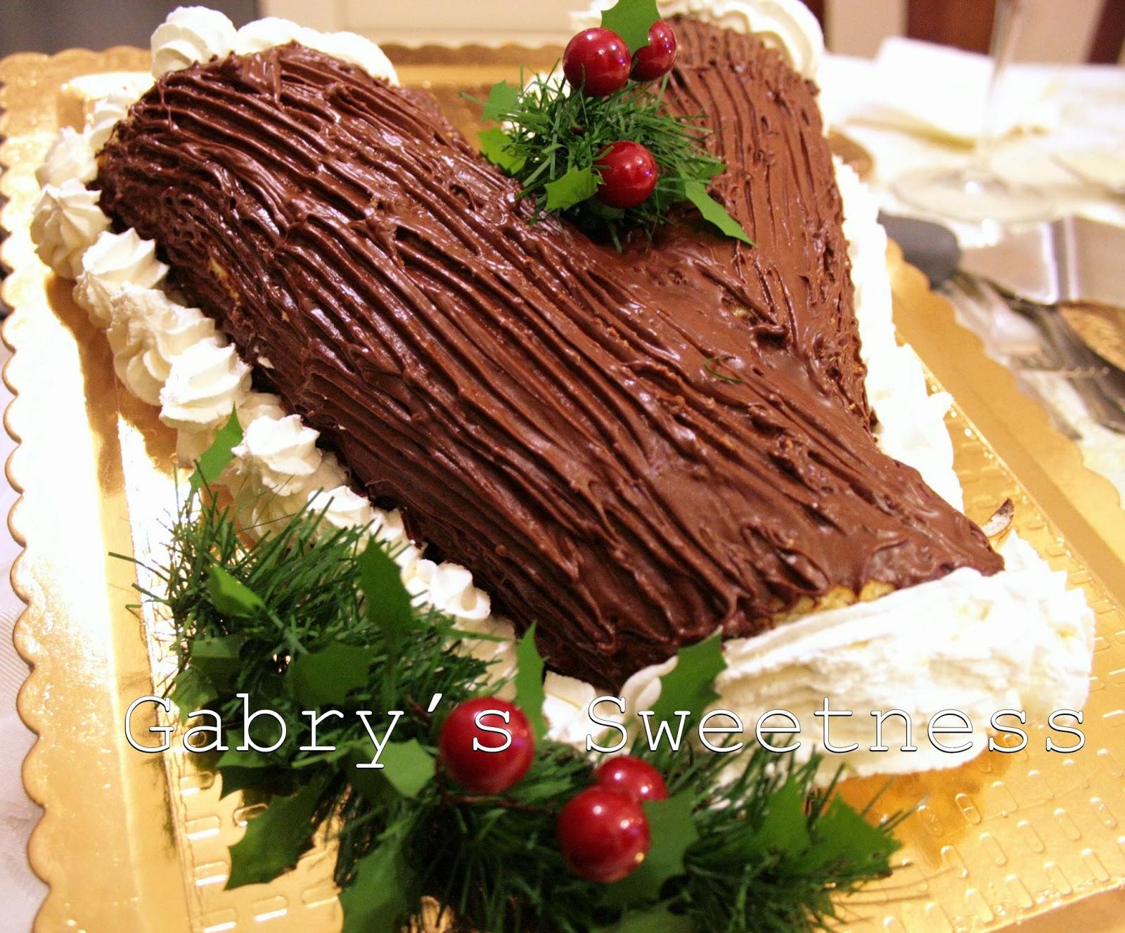 Decorare Il Tronchetto Di Natale.Gabry S Sweetness Tronchetto Di Natale Al Cioccolato