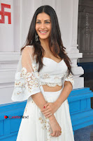 Telugu Actress Amyra Dastur Stills in White Skirt and Blouse at Anandi Indira Production LLP Production no 1 Opening  0068.JPG