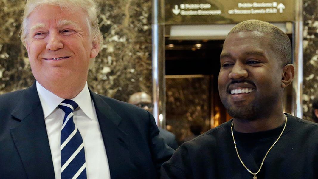 O rapper tava só elogios ao presidente dos EUA na rede social, quando Kim Kardashian o telefonou e parou com a palhaçada.