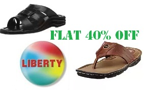 Liberty Footwear (Coolers) – Flat 40% Off Starts from Rs.239 @ Amazon