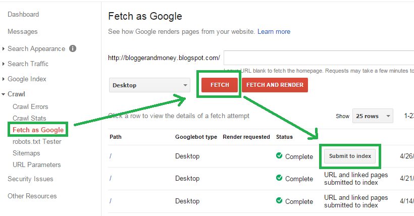 Fetch as Googlebot Tool's SEO benefits