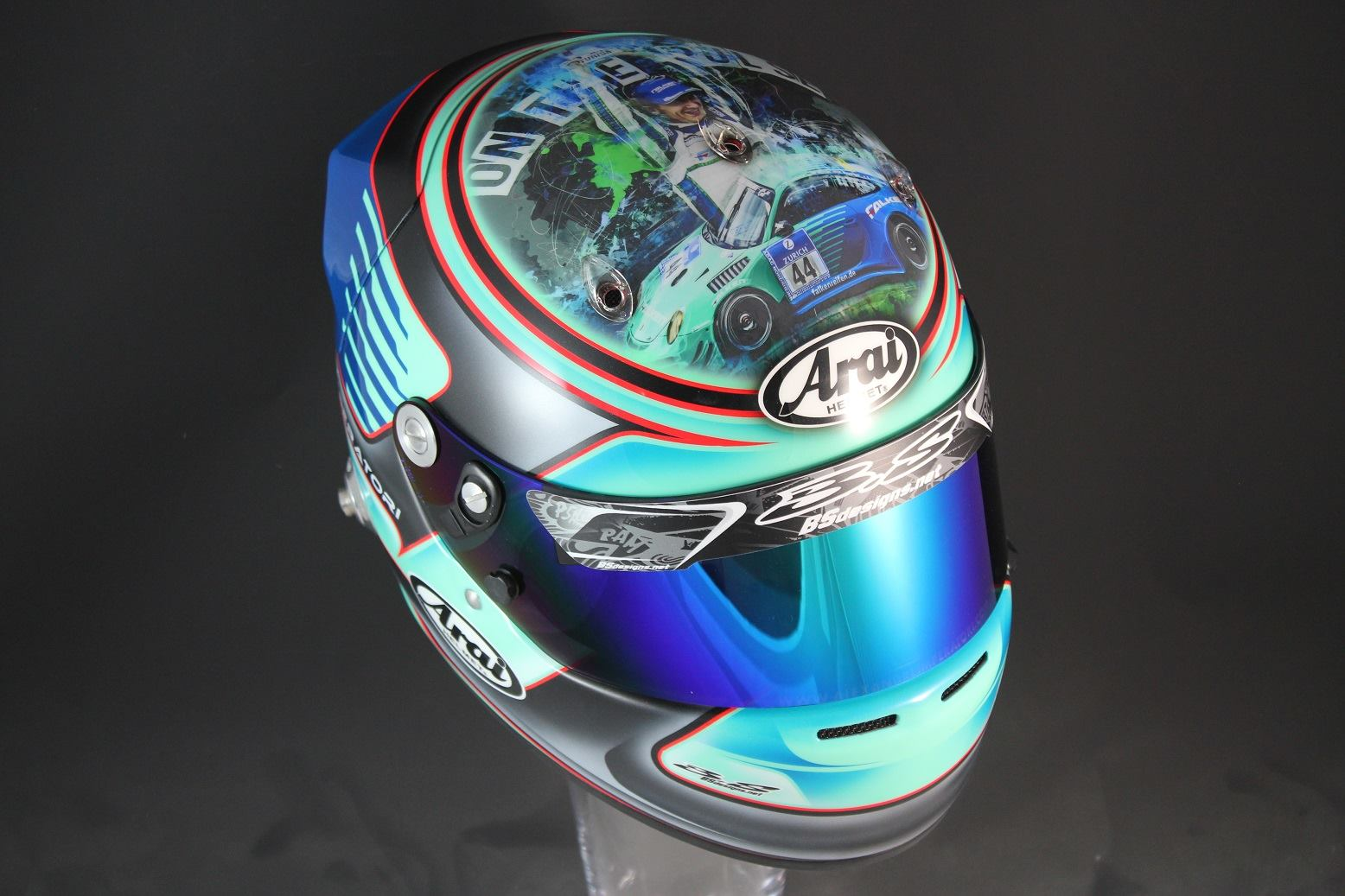 Helm 37 arai gp 6 a imperatori 2016 by bs designs for Helm design