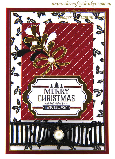 #cardmaking, #xmascard, Christmas Card, Memories & More card, #thecraftythinker, Stampin' Up Australia Demonstrator, Stephanie Fischer, Sydney NSW