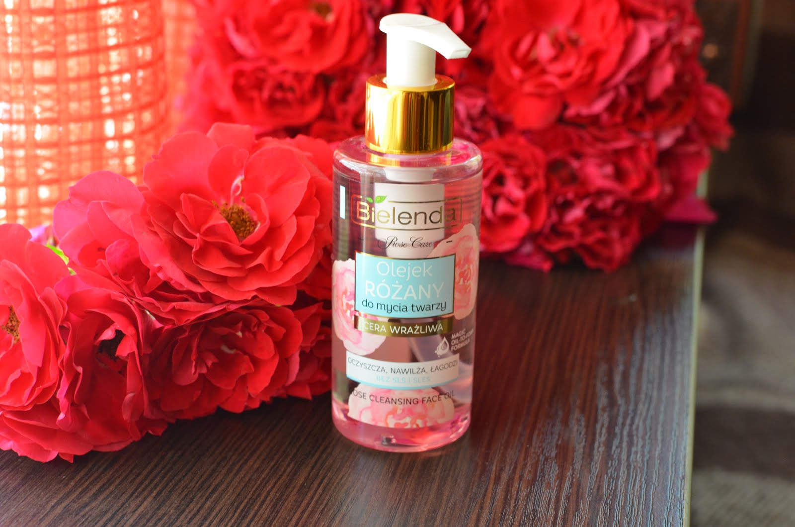 Bielenda Rose Care Cleansing Face Oil For Sensitive Skin Розовое масло для умывания
