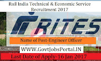 Rail India Technical and Economic Service Recruitment 2017 For Engineer Officers Post