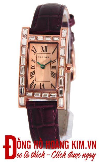 Đồng hồ đeo tay nữ dây da giá rẻ dưới 1 triệu Cartier