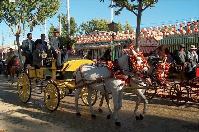 Charrete na Feria de Sevilha