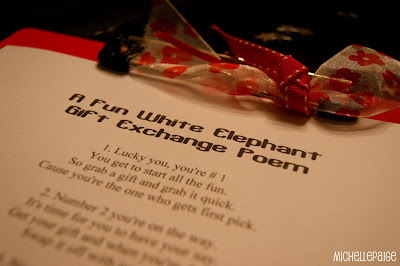 White Elephant Gift Exchange Poem