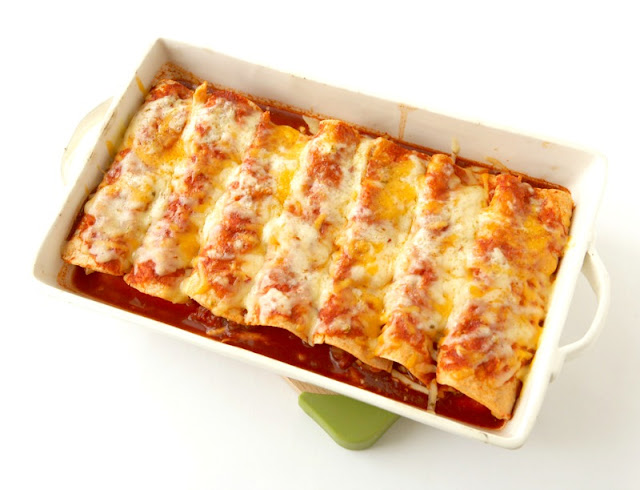 Chicken Enchiladas with Homemade Sauce