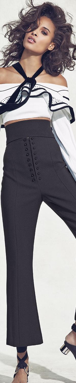 Proenza Schouler Long-Sleeve Halter-Neck Crop Top, White