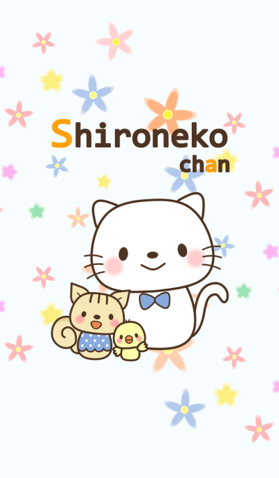 Shironeko-chan flower ver.