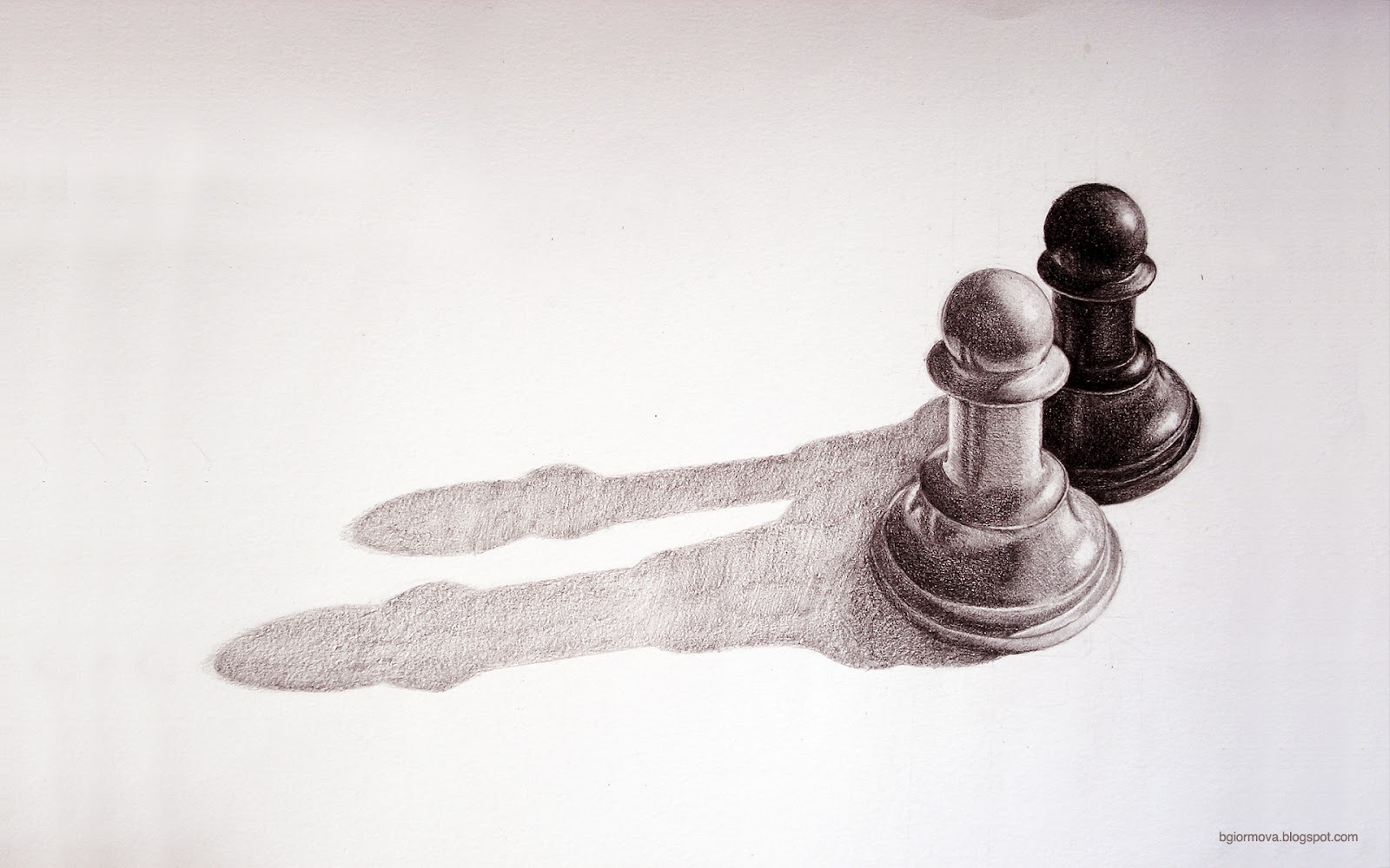 how to draw a chess pawn