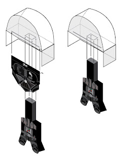Chemical9: Big Head Darth Vader paper toy and printable
