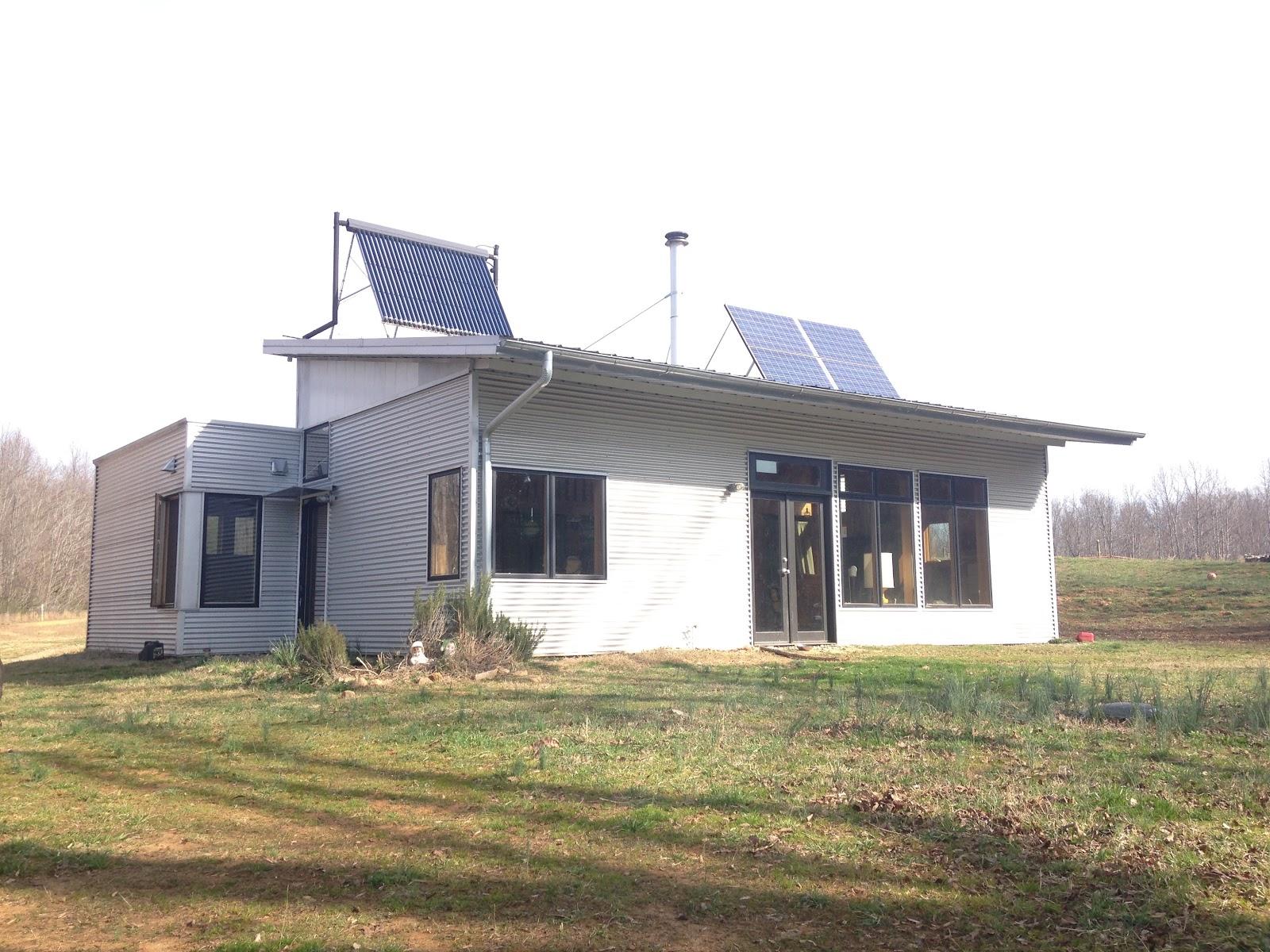 Modern Prefab House Off Grid Thinks On Concrete Slabs ...