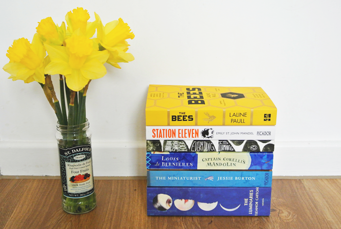 Daffodils and books