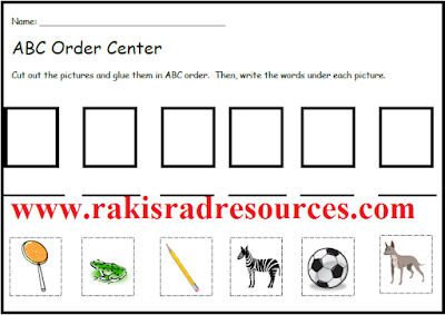Free alphabetical order literacy center from Raki's Rad Resources.