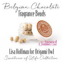 LISA HOFFMAN FOR ORIGAMI OWL SWEETNESS OF LIFE BELGIAN CHOCOLATE FRAGRANCE BEADS available at StoriedCharms.com