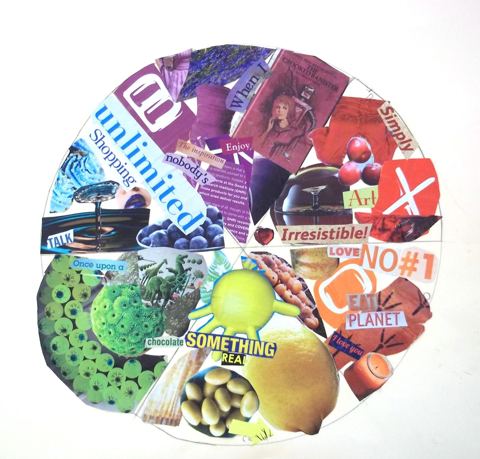Color Wheel Collage 6th Grade