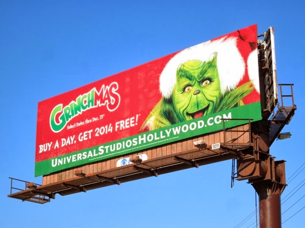 Grinchmas Universal Studios Hollywood 2013 billboard
