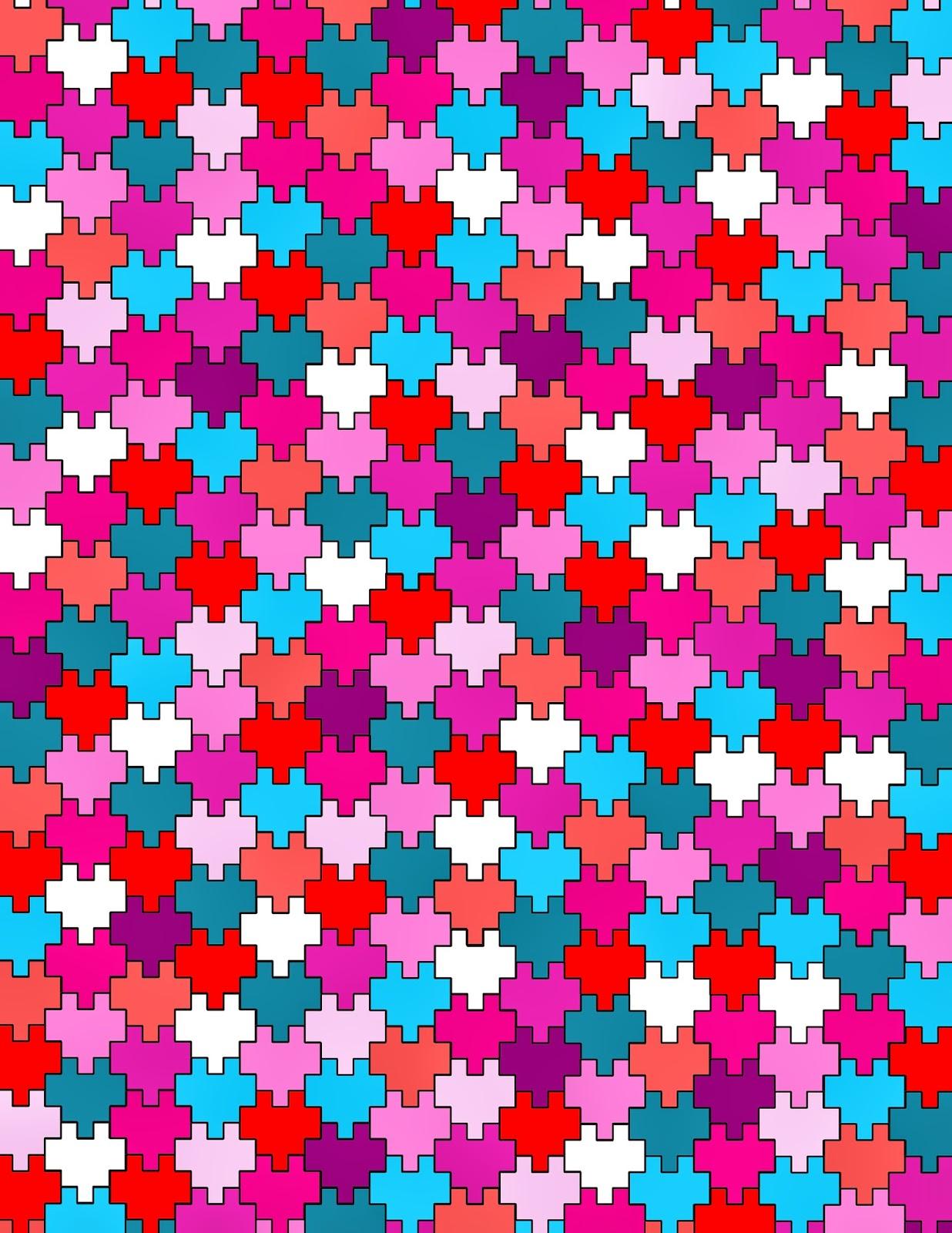 minecraft pixel heart tessellation free printable
