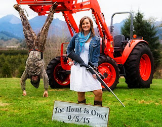 Watch Oregon Couple's announce Engagement with viral Hunt Is Over photo shoot via geniushowto.blogspot.com viral engagement photo shoots