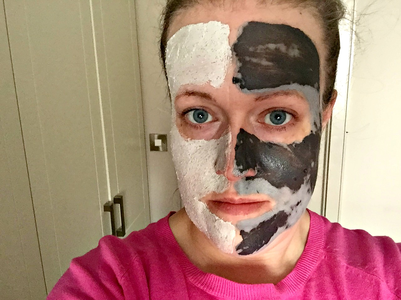 Glam Glow Supermud Vs Aldi Lacura mask