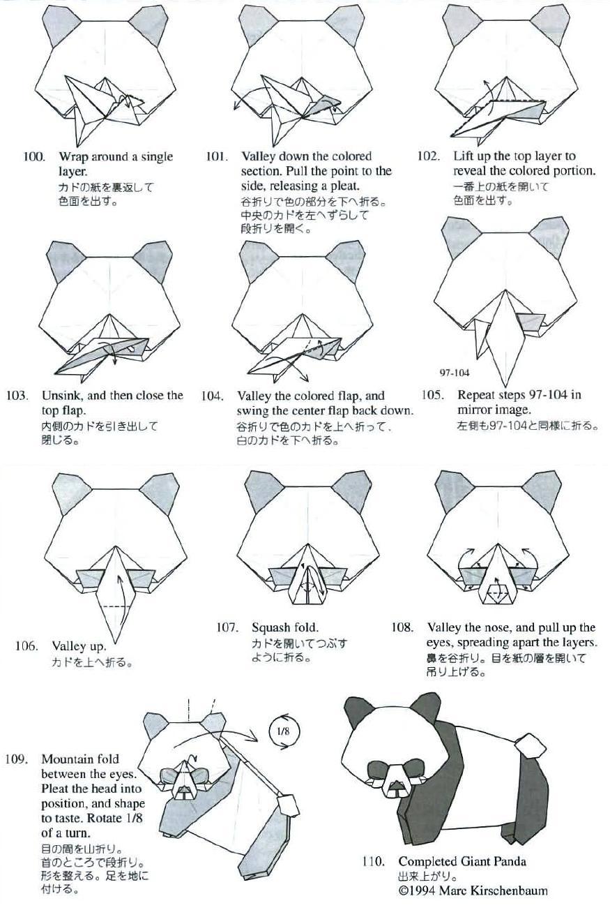 Papiroflexia Para Tod S Panda Gigante