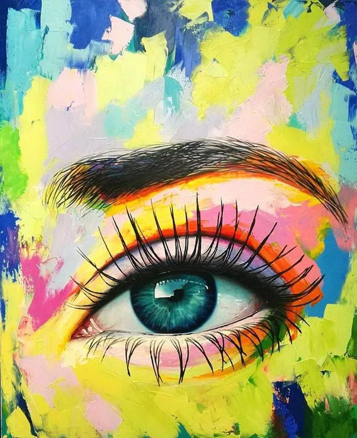 Im genes arte pinturas pinturas coloridas modernos ojos abstractos de patricia vesga - Nombres de colores de pinturas ...