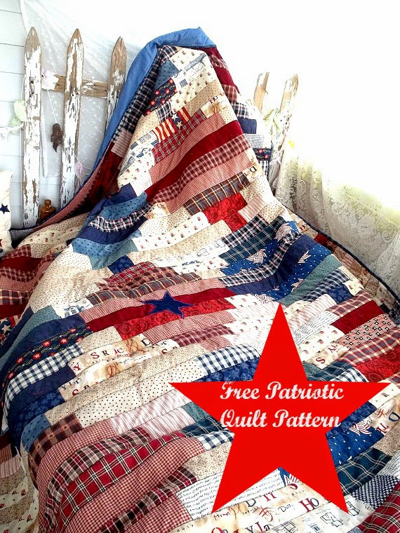 Quilt Inspiration: Free pattern day: Patriotic and flag quilts : patriotic quilt kits - Adamdwight.com